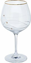 Glitz 210ml Kristall Gin Luftballon Glas