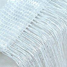 GLITZFAS Fadenvorhang,Metallik-Optik Fadengardine