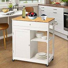 Glitzhome Küchenwagen mit Rollen, Küchenwagen