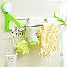 GLJ Sucker Doppel Handtuchhalter Bad Haken Küche