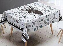GLLCYL Tischdecke Tischwäsche 麋鹿 Englisch