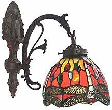 GLMAMK Tiffany-Stil-Wandlampen, Pastorale Libelle