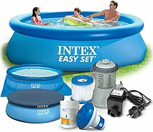 Global 7in1 Set Gartenpool Easy Set Pool 305 x 76cm mit Zubehör INTEX 28120