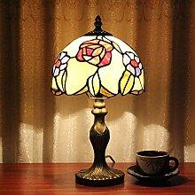 Global-8-Zoll Einfache Tiffany-Buntglas Tiffany-Lampen Restauranttische dekoriert handgemachte Kunstwerk Hochzeitsgeschenk-Tischlampe