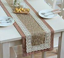 Global- American Pastoral Style Baumwolle und Polyester Material Pflanze Blumen Muster Tisch Flagge, Couchtisch Esstisch TV Schrank Tischläufer ( farbe : #1 , größe : 35*220cm )