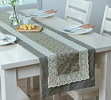 Global- American Pastoral Style Baumwolle und Polyester Material Pflanze Blumen Muster Tisch Flagge, Couchtisch Esstisch TV Schrank Tischläufer ( farbe : # 2 , größe : 35*240cm )
