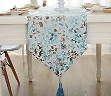 Global- American Village Stil Pflanze Blumen Muster gemischt Material Tabelle Flagge, Couchtisch Esstisch TV-Schrank Tischläufer ( größe : 32*200cm )