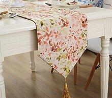 Global- American Village Stil Pflanze Blumen Muster gemischt Material Tabelle Flagge, Couchtisch Esstisch TV-Schrank Tischläufer ( größe : 32*220cm )