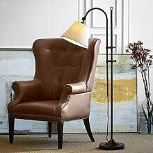Global- Amerikanische Stehlampe Wohnzimmer Sofa Schlafzimmer Studie vertikale Lampe ( Farbe : Weiß )