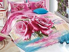 Global- Art und Weisehirtenart-nachgemachte 3D Effekte Haustextilien-Versorgungsmaterialien, Baumwollmaterial Bettwäsche-Blätter * 1, Steppdecke-Abdeckung * 1, Kissenbezug * 2 ( größe : 1.8m (6ft) Bed )