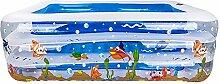 Global- Art- Und Weisekarikatur-Muster-Kind-Spiel-Pool-Schwimmen-Wanne Neugeborene Wanne, Umweltschutz PVC-Material-Baby-aufblasbarer Swimmingpool (140*95*45cm) ( größe : 140*95*45cm )
