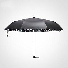 Global- Art- und Weisekreativer erwachsener faltender Regenschirm-drei Falten-Regenschirm, Vinyl-Regenschirm-Tuch-voller Oxid-Regenschirm-Standplatz-Regenschirm-Standplatz Sonnenschutz-Sonnenschirm ( farbe : # 2 )