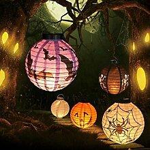 Global Brands Online Halloween LED Papier Laterne