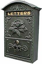 """Global- Briefkasten / Briefkasten mit Schloss und Schlüssel Wandhalterung / Briefkasten für Häuser, Gusseisen, Wandmontage, innen, Outdoor, Briefkasten abschließbar, 24.5 * 8.2 * 34.5cm / 9.6 * 3.2 * 13.6 """" ( größe : 24.5*8.2*34.5cm(9.6*3.2*13.6"""") )"""