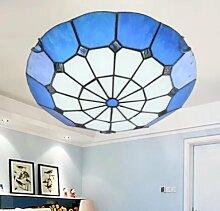 Global Continental Mittelmeer Tiffany Glasdeckenleuchten Wohnzimmerlampe