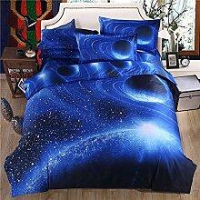 Global- Einfache moderne Art-Stern-leere Muster-nachgemachte 3D Effekte Heimtextilien-Versorgungsmaterialien, Baumwollmaterial Bettwäsche-Blätter * 1, Steppdeckeabdeckung * 1, Kissenbezug * 2 ( größe : 1.8m (6ft) Bed )