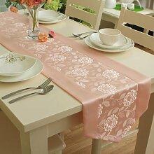Global- Europäische Art Polyester Material Pflanze Blumen Muster Tisch Flagge, Couchtisch Esstisch TV Schrank Tischläufer ( größe : 35*200cm )