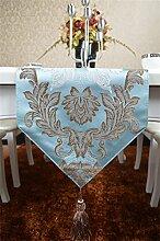 Global- Europäische Art Silk Material Pflanze Blumen Muster Tisch Flagge, Couchtisch Esstisch TV Schrank Tischläufer ( größe : 30*180cm )