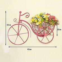 Global- Europäische Stil Home Eisen Wanddekoration / Blumenregale, Wohnzimmer Schlafzimmer Kleidung Speicher Restaurant Pflanze Anhänger Wand hängen ( Farbe : Pink )