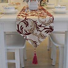 Global- Europäische Stil Tuch Material Pflanze Blumen Muster Tisch Flagge, Couchtisch Esstisch TV Schrank Tischläufer ( größe : 30*200cm )