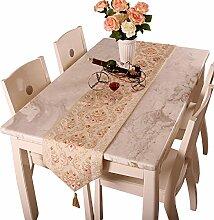 Global- Europäischer Stil luxuriöses Tuch Material Tischfahne, Couchtisch Esstisch TV-Schrank Tischläufer ( größe : 33*180cm )