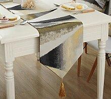 Global- European Style Blended Material Geometrische Muster Tabelle Flagge, Couchtisch Esstisch TV Schrank Tischläufer ( größe : 32*200cm )