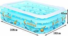 Global- Familien-Pool-Umweltschutz-PVC-Baby-Swimmingpool, aufblasbares Baby-Säuglingsspiel-Swimmingpool-Schwimmen-Eimer ( größe : 308*182*60cm )