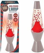 Global Gizmos Cascading Lava batteriebetrieben ausbrechenden Vulkan Lampe, Silber, 29cm