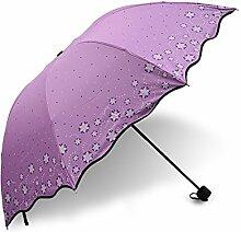 Global- Hochwertiger Edelstahl-Schirmständer Hochleistungs-Schlagtuch Regenschirmtuch Sonnenschutz Sonnenschirm, Kreativer Dual-Use Erwachsener Faltender Regenschirm Dreifacher Regenschirm (110*65*95cm) ( farbe : # 2 , größe : 110*65*95cm )