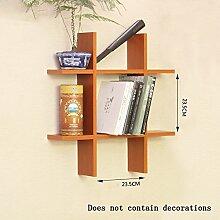 Global- Holzböden Schwimmen Regal / Bücherregal / Wand Regale / Pflanze Stand, Kreative Wand hängende Dekoration Rack Wall Frame ( Farbe : #1 )