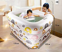 Global- Kind-Spiel-Swimmingpool-Schwimmen-Wanne Neugeborene Wanne, Umweltschutz PVC-Material Baby-aufblasbarer Swimmingpool ( größe : 120*105*75cm )