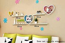 Global- Kreative herzförmige Holz-Paneele Wandregal / Bücherregal / Floating Regal / Pflanze Stand / Flower Racks, TV Kulisse Dekorative Rahmen Wohnzimmer Wand hängen ( Farbe : #1 )
