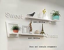 Global- Kreative Holz-Paneele Pflanze Stand / Floating Rack / Wand Regale / Flower Racks / Bücherregal, Wohnzimmer TV Wand Hanging Backdrop Dekoration Wand Rahmen ( Farbe : #2 )