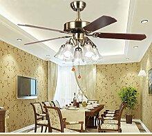 Global- LED-Ventilator Deckenventilator Licht Kronleuchter Anion Wohnzimmer Restaurant Schlafzimmer mit Ventilator (Energieeffizienzklasse A +)