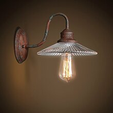 Global-light Retro Nostalgie Wand Lampe Glas Wand