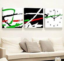 Global- Meter Box Verteilung Box Block Mural, MDF Material Haut Membran Schlafzimmer Wohnzimmer Frameless Bild Wanduhr, Fashion Creative Murals ( größe : 60*60cm )