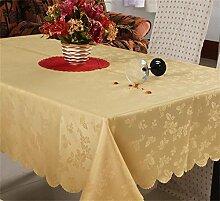 Global minimalistische Mode geschnitzte hohle doppelte wasserdichte Einweg-Tischdecken 150 * 210cm Tisch