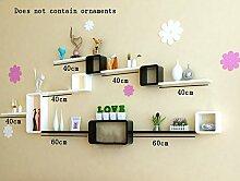 Global- Multifunktions-Holz-Paneele Blumen-Racks / Bücherregal / Wall Shelf / Floating Regal, TV Hintergrund Wand Dekorative Frame Wohnzimmer Wand hängende Dekoration