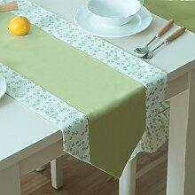 Global- Pastoral Stil Polyester Material Imitation Flachs Stil Tabelle Flagge, Couchtisch Esstisch TV Schrank Tischläufer ( größe : 35*180cm )