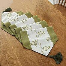 Global- Pastoral Style Baumwolle Leinen Material Pflanze Blumen Muster Tisch Flagge, Couchtisch Esstisch TV Schrank Tischläufer ( größe : 32*160cm )