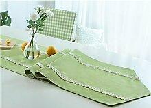 Global- Pastoraler Stil Polyester Material Nachahmung Flachs Stil Tischfahne, Couchtisch Esstisch TV-Schrank Tischläufer ( größe : 35*150cm )