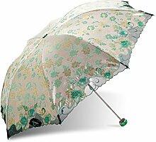 Global- Polyester-Regenschirm-Tuch Alle Stahl-Regenschirm-Stab Aluminium und Glasfaser Regenschirm Knochen Sonnenschutz Sonnenschirm, Falten Regenschirm erwachsenen Dual-Einsatz dreifach Regenschirm ( farbe : #4 )