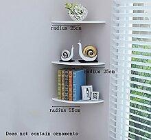 Global- PVC-Ecke Rahmen / Pflanze Stand / schwimmende Rack / Wand Regale / Bücherregal, Schlafzimmer Korridor Wand hängende Kulisse Dekoration Wand Rahmen ( größe : Radius 25cm )