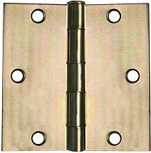 Global Tür Kontrollen 3in. x 3in. Zink Gleitlagern Stahl Scharnier–Set von 2