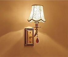 Global-Wandleuchte Continental Retro Pastoral Schlafzimmer Nachttischlampen Corridor Aisles Spiegel Scheinwerfer