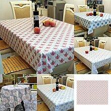 globaldeal Direct Flower Dots Print Rechteck Tischdecke Tisch Cover Banquet Party Home Dekoration–5# 140cm x 180cm, 4#, 140cm x 180cm