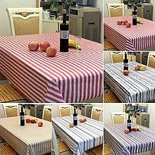 globaldeal Direct Stripe Muster Rechteck Tischdecke Tisch Cover für Bankett Party Home Decor–1# 100x 140, 4#, 140x180cm
