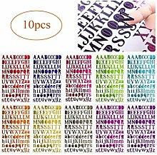 GLOBALDREAM Alphabet-Aufkleber 10 Stück Bunte