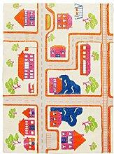 Globalen Teppich tc6001–120Spielmatte für Kinderzimmer Circuit Relief Polypropylen Orange/Creme 120x 160cm
