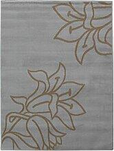 Globalen Teppich Teppich Moderne für Dekoration-Stil Floral Polypropylen grau/braun, grau / braun, 120 x 160 cm